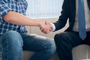 Thank you handshake